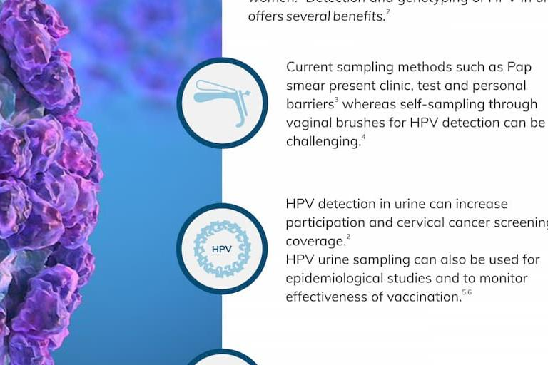 Cervical cancer screening infographic
