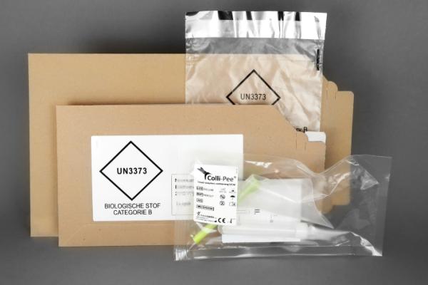 Colli-Pee postal kits for home collection